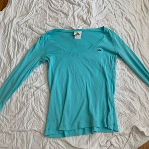 Long sleeve blue shirt